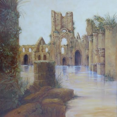 abbaye-jumièges-peinture-philippe-migne