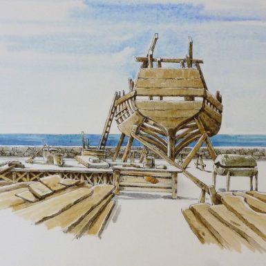 arche-aquarelle-paysage-imaginaire-philippe-migne