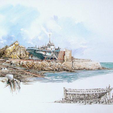 chantier-naval-douarnenez-aquarelle-philippe-migne