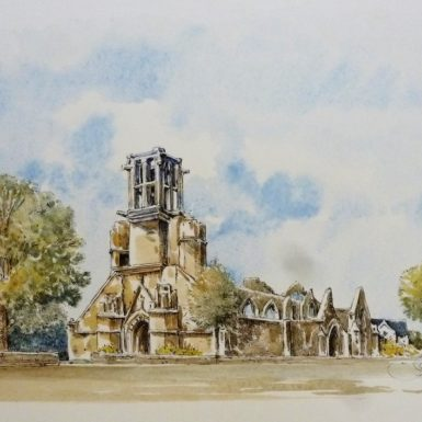 lambour-chapelle-bigoudene-aquarelle-philippe-migne-pont-l'abbe
