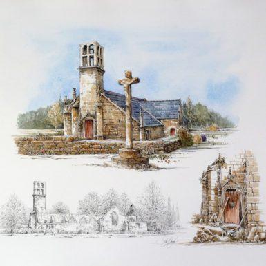 lanvern-chapelle-bigoudene-aquarelle-philippe-migne