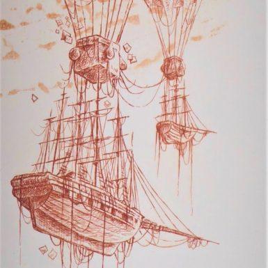 ballon-navigable-dirigeable-philippe-migne-gravure