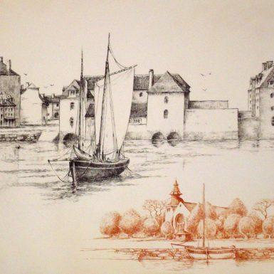 gravure-pont-l'abbe-pays-bigouden-migne