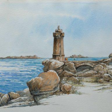 ploumanach-phare-menez-ruz-aquarelle-philippe-migne