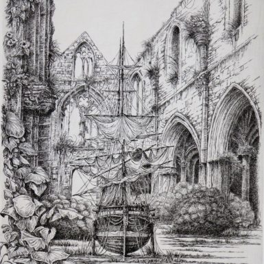 voilier-beauport-abbaye-gravure-philippe-migne