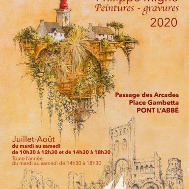 philippe-migné-exposition-gravure-peinture-pont-l'abbé-finistere